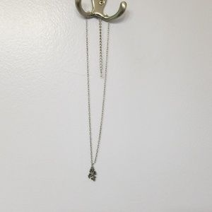 Silver dragons necklace